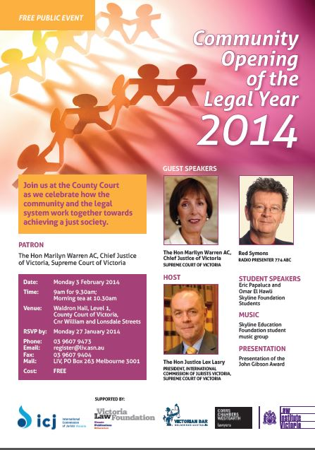 2014 Community Opening of the Legal Year