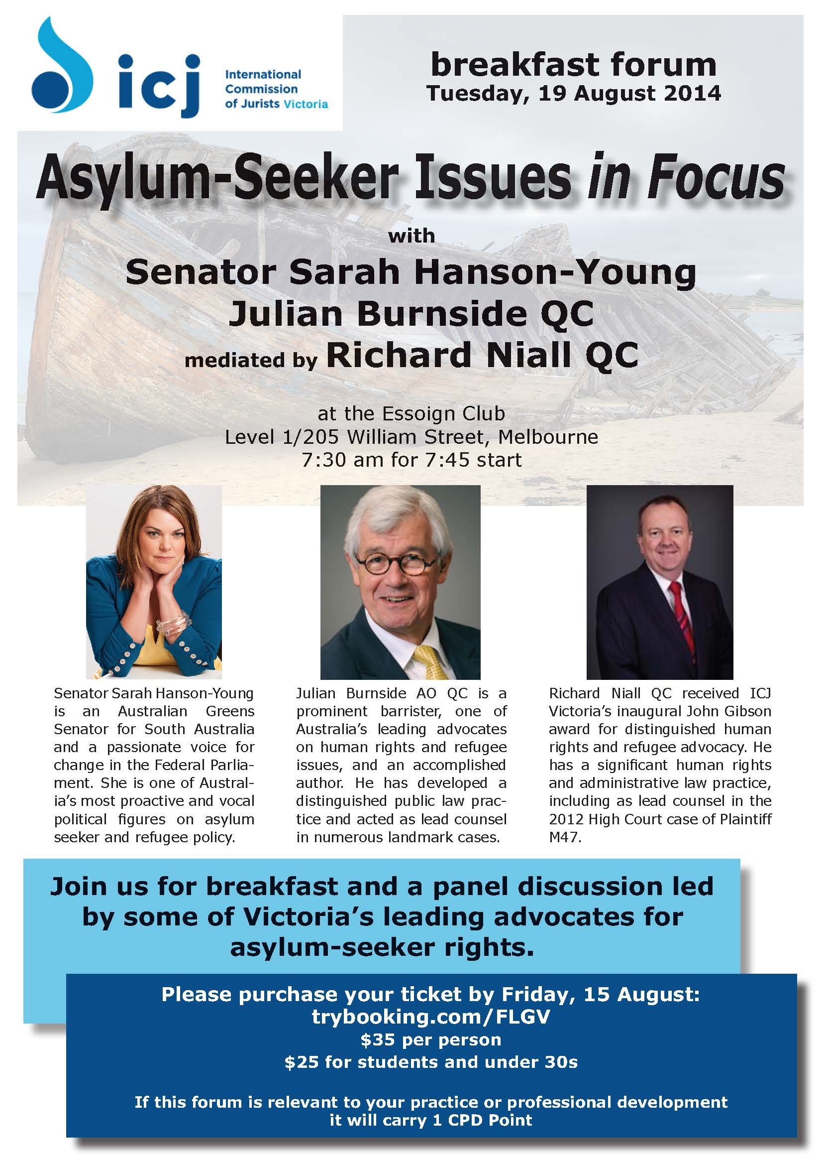 ICJV - Asylum-Seeker Issues in Focus