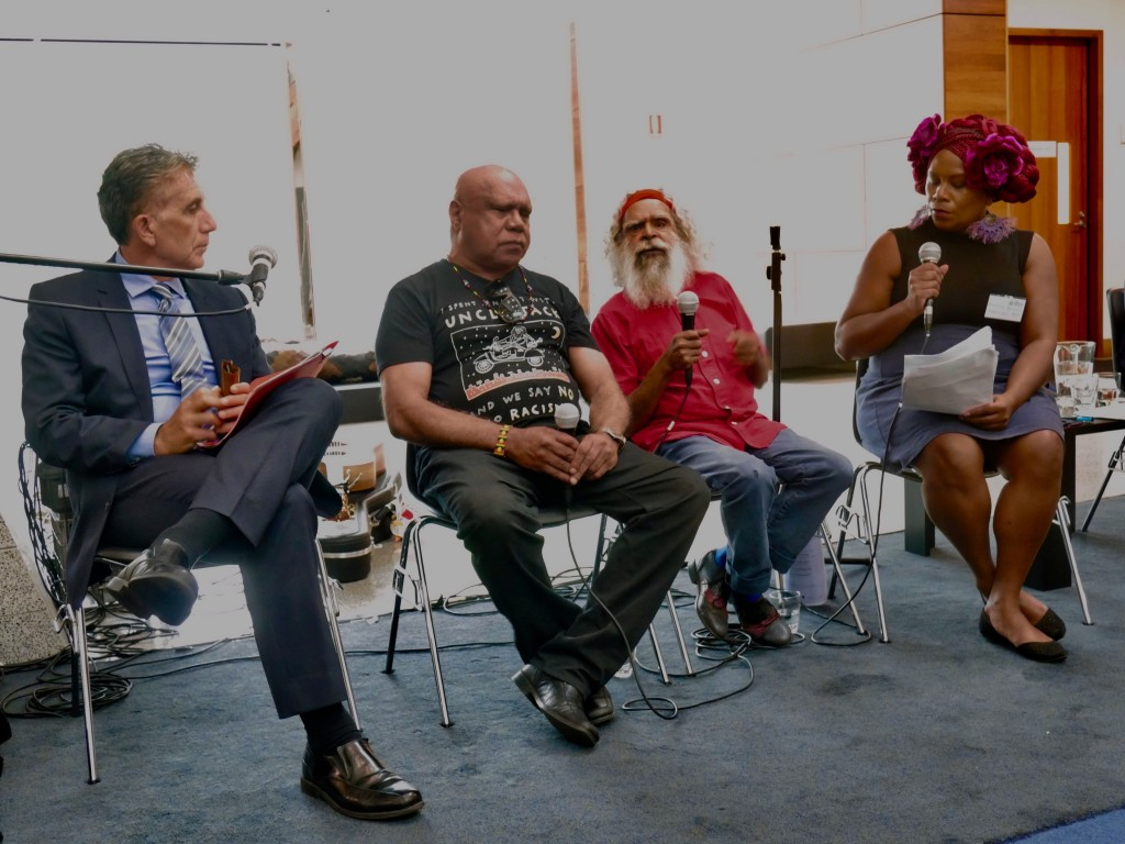 Namila Benson, from 3RRR and Radio National, hosted a conversation between Uncle Jack Charles and Uncle Archie Roach about the Archie Roach Foundation.